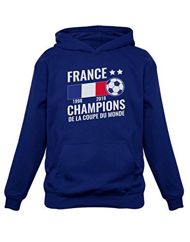Green Turtle T-Shirts Football Enfant Souvenir de la Coupe du Monde 2018 Sweatshirt Capuche Enfant 3/4A Marine