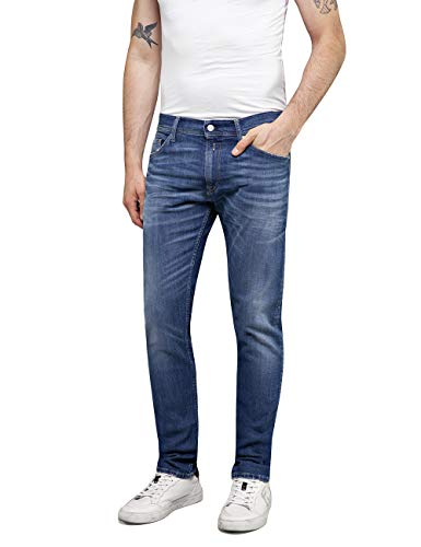 REPLAY Jondrill Vaqueros Skinny, Azul (Dark Blue 7), W36/L34 (Talla del Fabricante: 36) para Hombre