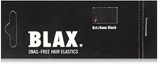 Blax BLACK Snag-Free Hair Elastics 4mm, 8 Count (2-Pack)