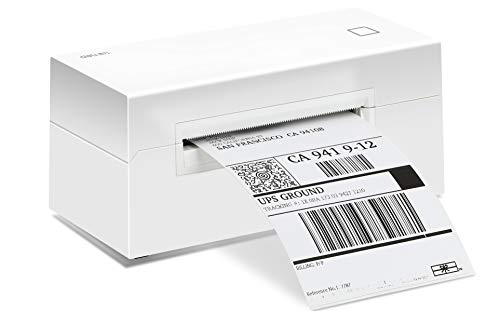 Shipping Label Printer 4x6, Desktop Thermal Label Printer for Shipping Packages, Barcode Stickers, Thermal Printer for Windows & Mac, Compatible with UPS, Amazon, USPS, Shopify, Print Width 1.7-4.25''