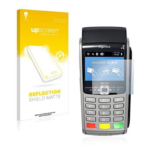 upscreen Entspiegelungs-Schutzfolie kompatibel mit ingenico iWL250 – Anti-Reflex Displayschutz-Folie Matt