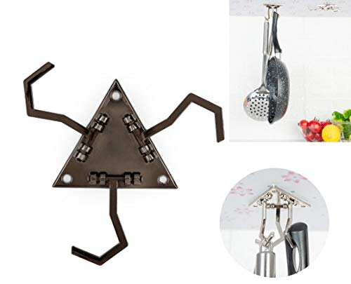 Cooking Utensils Hanger Under Cabinet Kitchen Utensils Hook for Cooking Tools and Other Kitchen Gadgets Gun Color X 2pc