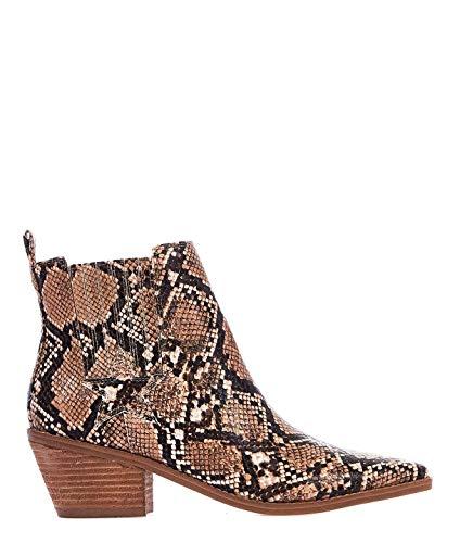 Luxury Fashion | Guess Dames FL5NE2PEL10CAMEL Bruin Leer Enkellaarzen | Lente-zomer 20