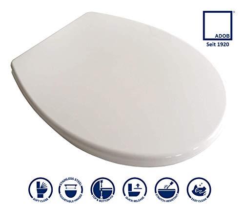 WC Sitz Klobrille weiss mit Absenkautomatik und auf Knopfdruck abnehmbar zur Reinigung