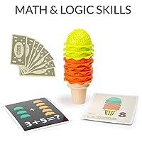 TOP BRIGHT Set Gelato Giocattolo – Gioco Gelateria – Gioco Educativo di Matematica e Sviluppo Abilità Cognitive con Cibo Finto per Bambini #3