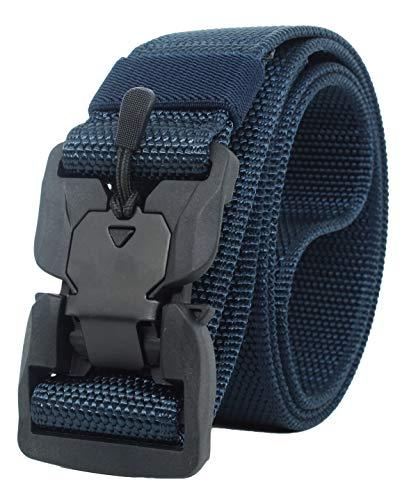 Longwu Hebilla súper magnética Lona de nylon de liberación rápida Cinturón táctico militar transpirable para hombres y mujeres con hebilla de plástico