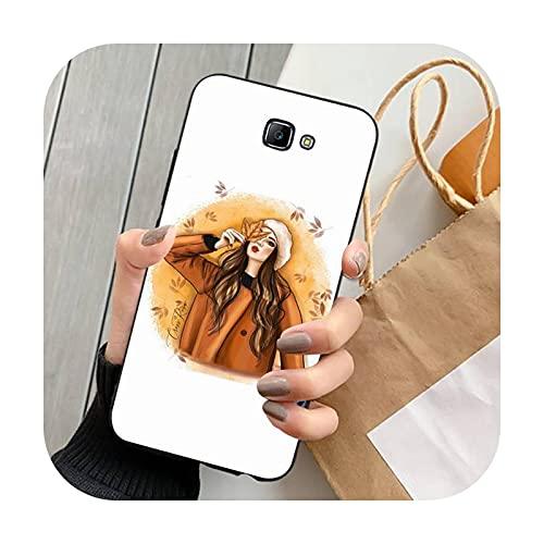 FightLY Moda hermosa chica teléfono caso para Samsung J 4 5 6 7 8 prime plus 2018 2017 2016 J7 core-a1-para J7 Duo