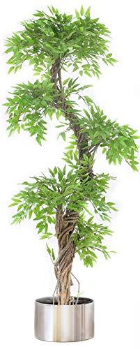 Vert Lifestyle Topiary árbol Tallado japonés Artificial, Altura 165 cm, lujosas Hojas Artificiales con el Tallo de la Corteza del árbol Real.