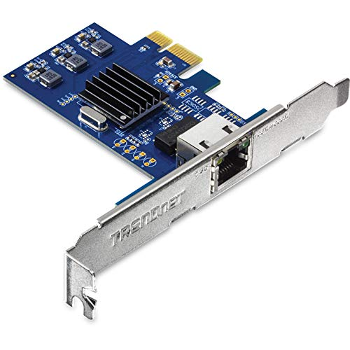TRENDnet 2.5Gase-T PCIe Network Adapter, TEG-25GECTX, Converts a PCle Slot into a 2.5G Ethernet Port, 802.1Q VLAN Tagging, Standard & Low-Profile Brackets Included, Windows Support, 9KB Jumbo Frames