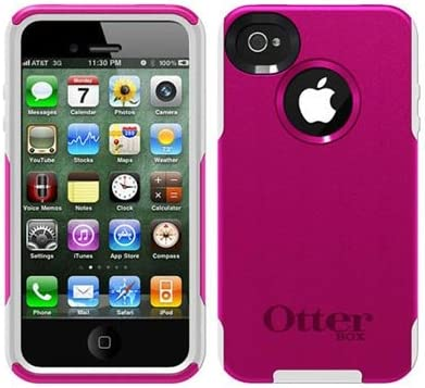 Otterbox Strength Edition Commuter Case for iPhone 4 4S 4G 4GS Retail Packaging Hot Pink White product image