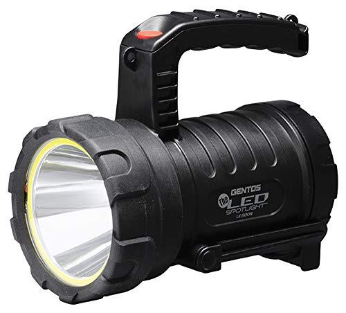 GENTOS(ジェントス) LED 懐中電灯 USB充電式 【明るさ1900ルーメン/実用点灯2時間/最大照射距離1km/1m防水】 The LED 内蔵充電池またはCR123Aリチウム電池1本使用 LK-500R ANSI規格準拠
