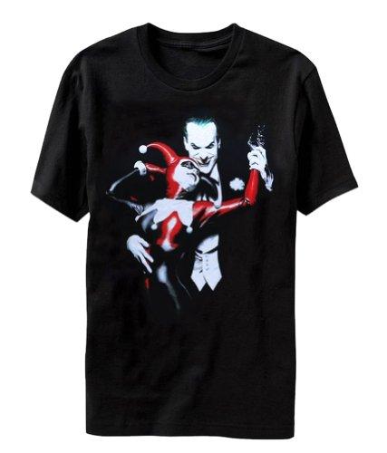 Bioworld Mens Batman Joker & Harley Quinn Arkham Asylum T-Shirt L Red