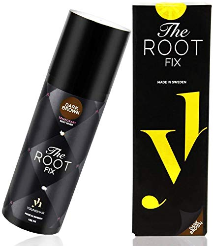 YoungHair The Root Fix - Dunkelbraun Haarfarbe spray - Magic Retoucher - Ansatzspray für graue Haare - Farbspray - Haarspray Farbe Retouch 125 ml