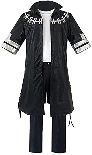 My H-ero A-cademia D-abi Cosplay Costume Men's Cosplay Costume Cool Jacket Pants Shirt Full Set for Masquerade Halloween (Color : Noir, Size : XL)