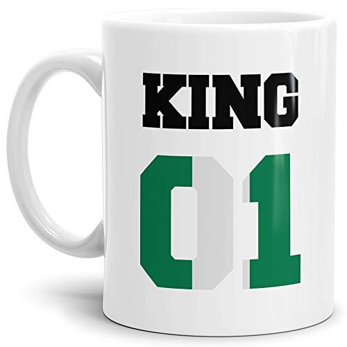 Tassendruck Flaggen-Tasse King - Nigeria - Pokal/Mug/Cup/Becher/WM/Pärchen/Paare/Fre&e/Beste Qualität - 25 Jahre Erfahrung