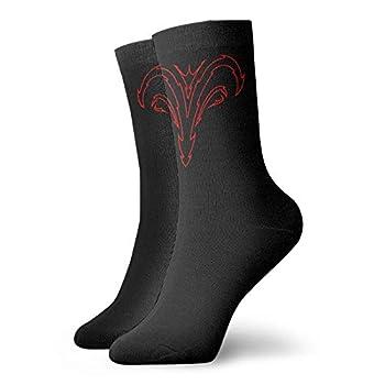 Red And Black Tribal Aries Men S Women S Lounge Work Short Boot Crew Socks Short Crew Socks Crew Work Socks For Men And Women