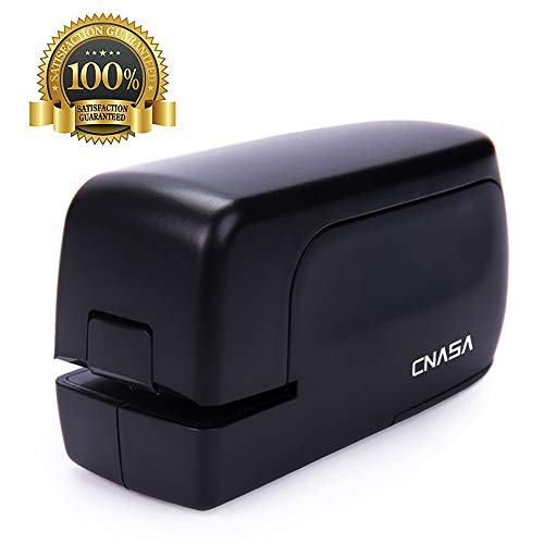 CNASA Heavy Duty Electric Stapler, Portable Full Strip Staple Capacity 20 Sheets Jam-Free for Office,Professional,Classroom School and Home Use,Black Battery Operated or AC Adapter(Included)