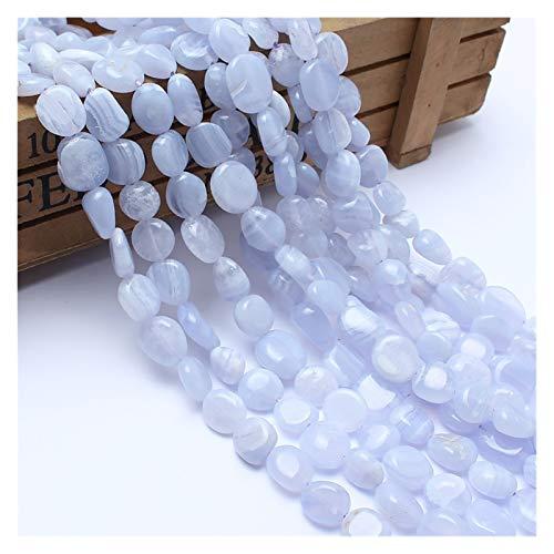 HETHYAN Cuentas de piedra natural de 8 a 10 mm irregulares de ágata púrpura para hacer joyas, pulseras, collares de 15 pulgadas (color: púrpura)