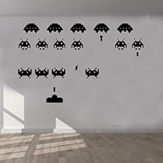 Space Invaders 3D Smashed Wall Sticker Decal Art Mural Classic Retro Game J587