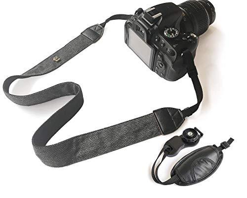 Bestele Cámara Correa De Hombro Cuello Cinturón Con Correa de la mano, Suave Vintage Impresión Correas Para Cámaras DSLR/SLR/Nikon/Canon/Sony/Lumix/Fujifilm/Rico/Samsung/Pentax/Olympus Etc.