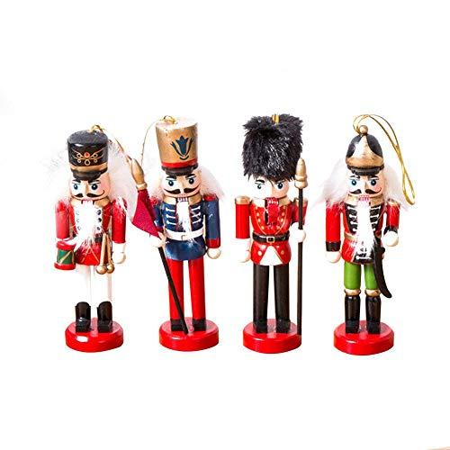 Makluce nieuwe creatieve Kerstmis Europese en Amerikaanse houten soldaten notenkraker pop set van 4 decoratieve feestsieraden