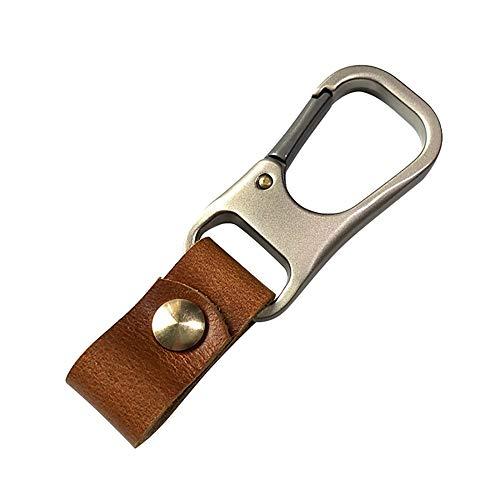MiOYOOW Leder Schlüsselbund, Gürtelclip Anhänger Schlüsselanhänger EDC Schlüsselhalter Schlüsselringhalter Taktische Schlüsselringe Lanyard für Gürtel