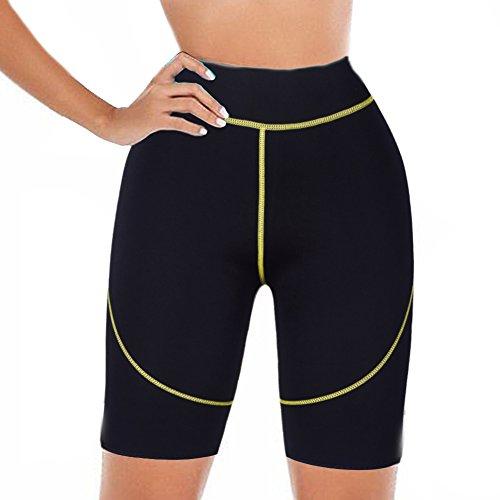 DODOING Abnehmen Body Shaper Hot Thermo Sauna Hosen Fitnesshose Workout Yoga Pants Gym Sport Shorts für Damen und Herren