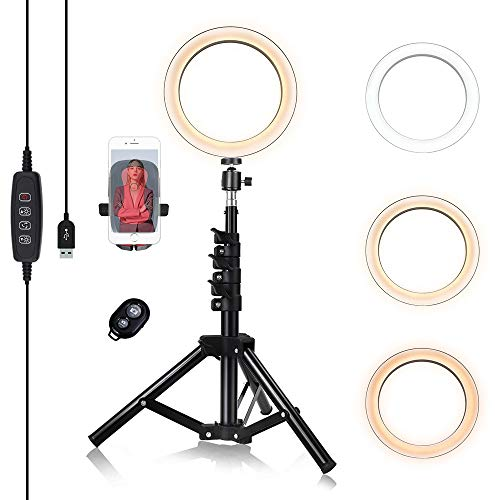 8-inch Ring Light with Stand Adjustable