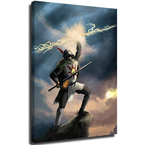 Trelemek Dark Souls Wall Decor Solaire of Astora Sunlight Spear A for Your Relatives and Friends 18x24 Inch