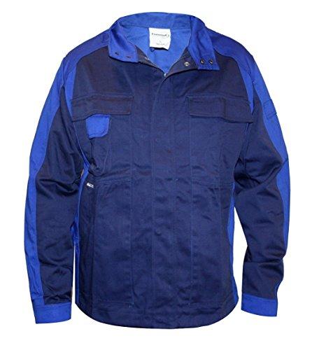 Format Herren Arbeitsjacke S-3XL Schutzjacke Arbeitsbekleidung Jacke Berufsjacke (L, Blau)