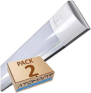 Pack 2X Lampara Luminaria 120cm. 40w. Color Blanco Frío (
