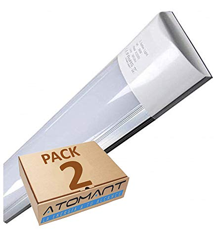 Pack 2X Lampara Luminaria 120cm. 40w. Color Blanco Frio (