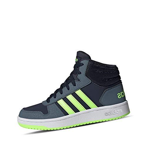 adidas Unisex-Kinder Hoops MID 2.0 K Sneaker, Tinley/Versen/Azuleg, 33 EU