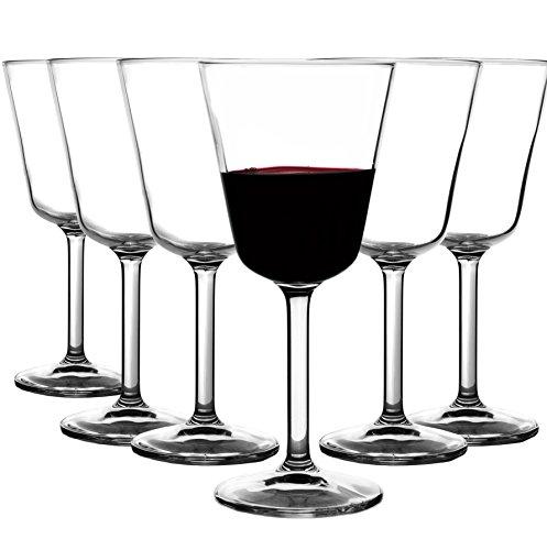 My-goodbuy24 Libbey Markengläser 12er Set - Hochwertige Rotweingläser Weinglas Rotweinglas höhe 17,6cm - Füllmenge:max. 220ml - spülmaschinenfest