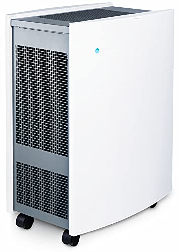 Blueair Classic 680i Luftreiniger mit SmokeStop-Filter ideal bis 72 m² (HEPASilent entfernt 99,97% Pollen, Staub, Viren, Bakterien, Gerüche, Rauch, Tierhaare, etc) sehr leise, WLAN