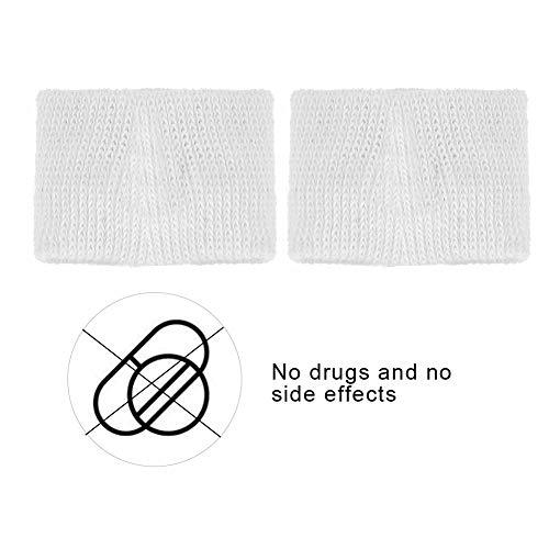 Pulseras de acupresión natural para el mareo por movimiento Pulseras anti-náuseas para autobús de avión para niños adultos(white, 12)
