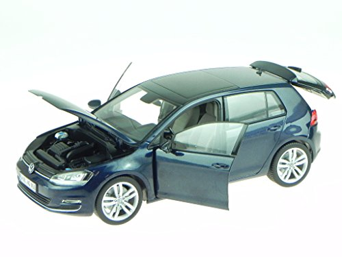 VW Golf 7 4-Türer nachtblau Modellauto Norev 1:18