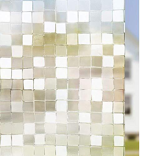 Película de vidrio estática aferrada gran mosaico estilo privado decoración impermeable anti-UV reutilizable ventana etiqueta engomada A63 60x100cm