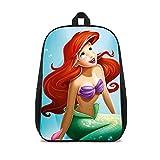 DUANGONGZI cartel de la escuela Impreso 3D Bolsa La Sirenita Película lindo bolsa de libro de escuela Escuela Bolsa para portátil de viaje Chicas Boys School Bolsas Tablet 16 pulgadas