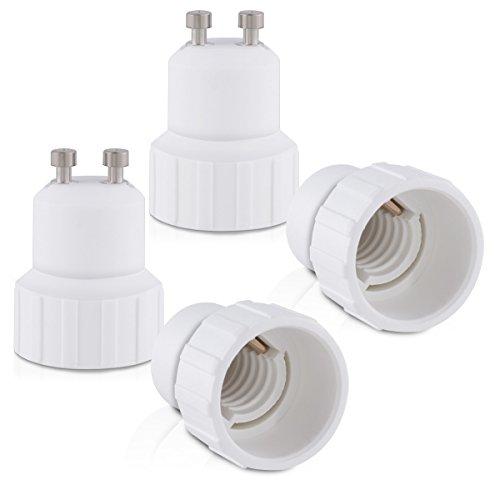 kwmobile 4X Casquillos de lámpara - Adaptador conversor de Montura GU10 a...