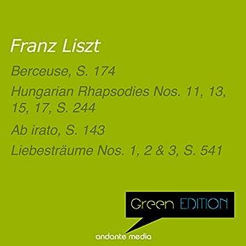 Green Edition - Liszt: Hungarian Rhapsodies Nos. 11, 13, 15, 17, S. 244  & Liebesträume Nos. 1, 2 & 3, S. 541