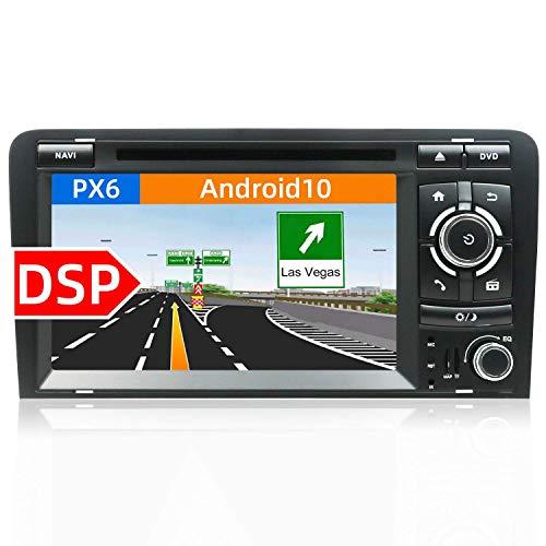 Estéreo de coche de doble dinar Android 10 para Audi A4 200 - -2011 Unidad principal |7 2G + 32G |Canbus y cámara de respaldo gratis |Soporte Carplay Bluetooth Sat Nav Mirror Link DAB + Subwoofer