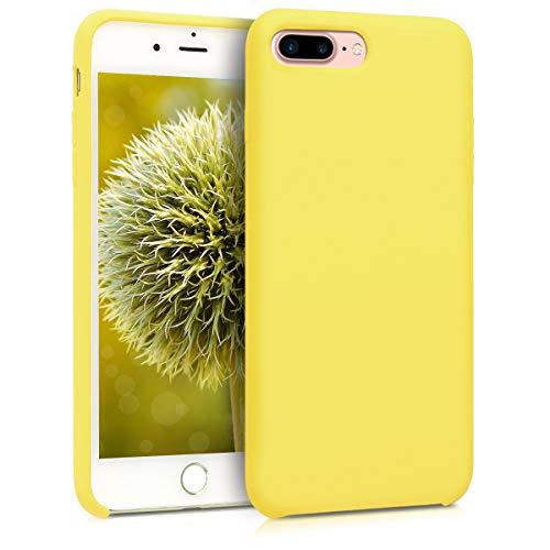 kwmobile Cover Compatibile con Apple iPhone 7 Plus / 8 Plus - Cover Custodia in Silicone TPU - Back Case Protezione Cellulare Giallo Pastello