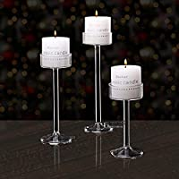 ZHEYANG Candle Holders for Table ガラスキャンドルホルダーウェディングバーパーティーホーム装飾ファッションキャンドルホルダー -11 Cmロングライフインストールが簡単