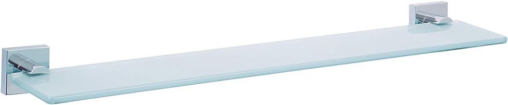 tesa® Ekkro glazen plank, hoogglans verchroomd metaal, zelfklevend, 50 mm x 600 mm x 120 mm