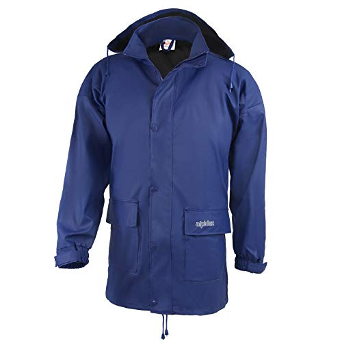 ALPIDEX Regenjacke für Damen und Herren, leicht, atmungsaktiv, wasserdicht, Winddicht, mit verstaubarer Kapuze - Größe S M L XL XXL 3XL - Blau, Größe XXL