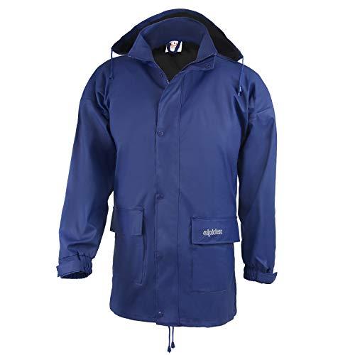 ALPIDEX Regenjacke für Damen und Herren, leicht, atmungsaktiv, wasserdicht, Winddicht, mit verstaubarer Kapuze - Größe S M L XL XXL 3XL - Blau, Größe M