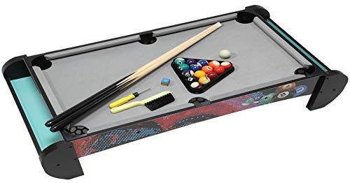 Pool Table-Kids Billiard Table Top, Compact Design Pool Tabletop Easy Setup for Indoor Billiard Table Games