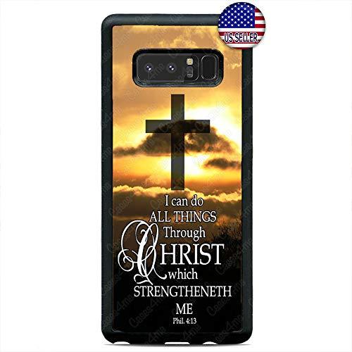 Bible Verse Cross Christian Case Jesus Slim Hard Rubber Custom Case Cover for Samsung Galaxy Note 10 10+ 9 8