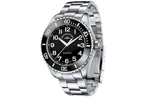 Zeno-Watch – Orologio da polso – da uomo – Diver Ceramic Quartz Black MB – 6492 – 515Q-a1 – 1M